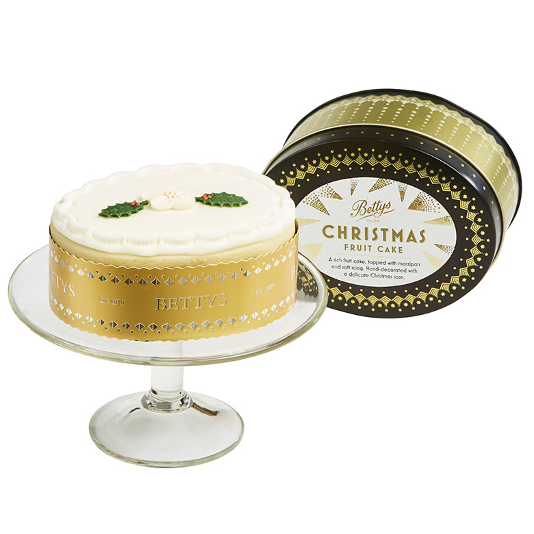 Soft Iced Christmas Cake in Tin