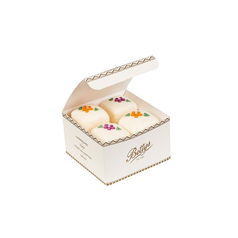 Autumn Fondant Fancies Box of 4