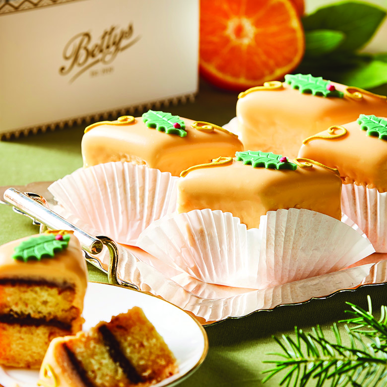 Chocolate & Orange Fondant Fancies Box of 4