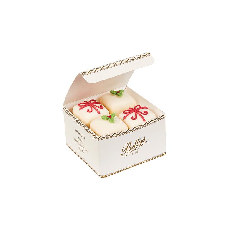 Christmas Fondant Fancies Box of 4