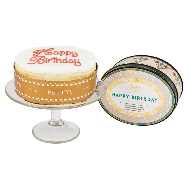 Happy Birthday Oval in a Tin