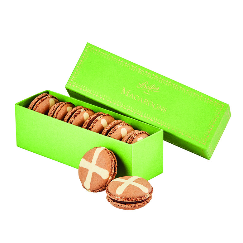 Hot Cross Bun Macaroons Box of 6