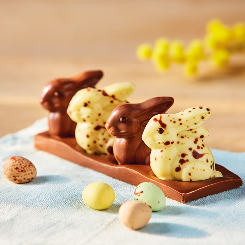 Milk & White Chocolate Speckled Rabbits