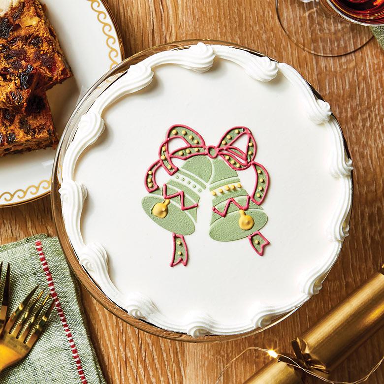 Royal Iced Bell Christmas Cake