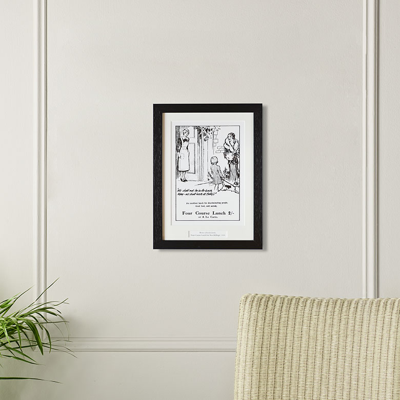 'Four Course Lunch' Framed Archive Print