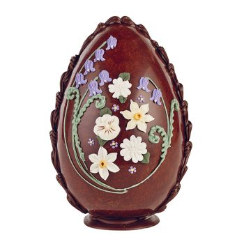 Large Milk Chocolate Spring Flowers Egg