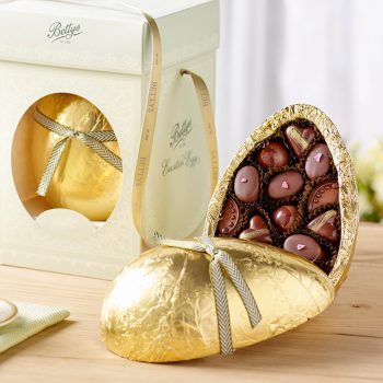 Milk Chocolate Egg With Hand Crafted Chocolates Lifestyle