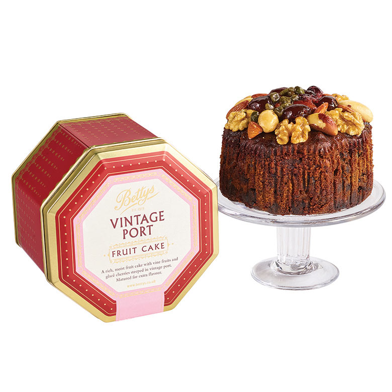 Vintage Port Fruit Cake in a Tin